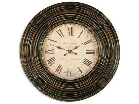 Uttermost Trudy 38 inch Wooden Wall Clock UT06726