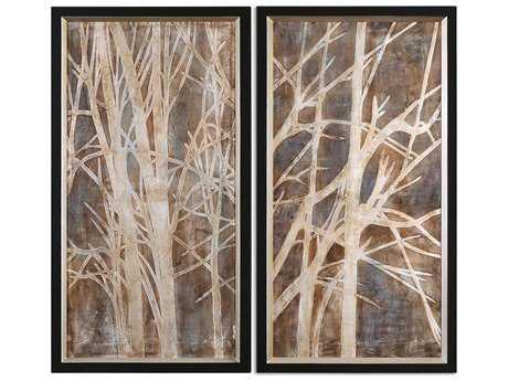 Uttermost Twigs Hand Painted Wall Art (2 Piece Set) UT41543