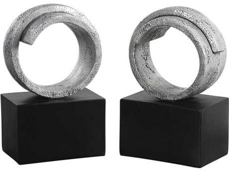 Uttermost Twist Modern Silver Bookends (Set of Two) UT20140