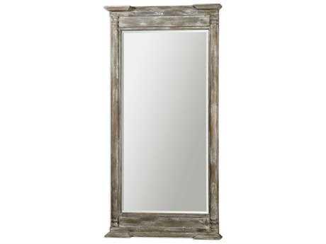 Uttermost Valcellina 38 x 74 Wooden Leaner Floor Mirror