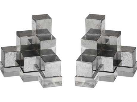 Uttermost Valerio Silver Bookends (Set of Two) UT20090