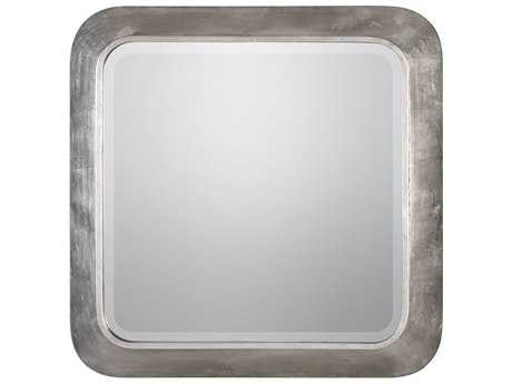 Uttermost Verea Metallic Silver Leaf 30.5'' Square Wall Mirror UT09235