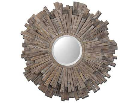 Uttermost Vermundo 43 Round Wood Wall Mirror UT07634