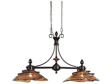 Uttermost Vitalia Bronze Kitchen Two-Light Island Ceiling-Light UT21225