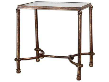 Uttermost Warring 25.25 x 19 Rectangular Iron End Table UT24334