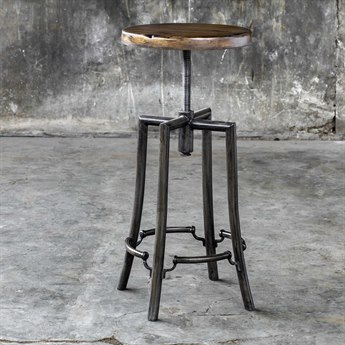 Uttermost Westlyn Side Adjustable Swivel Bar Height Stool Counter UT25898