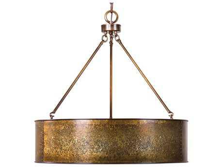 Uttermost Wolcott Golden Galvanized Five-Light Pendant