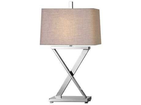 Uttermost Xavier Polished Nickel Table Lamp