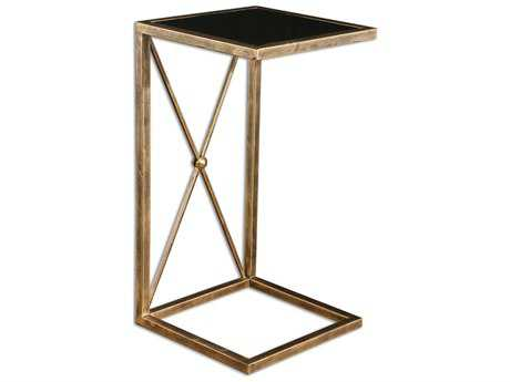 Uttermost Zafina 13 Square Gold Side Table