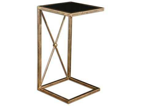 Uttermost Zafina 13 Square Gold Side Table UT25014