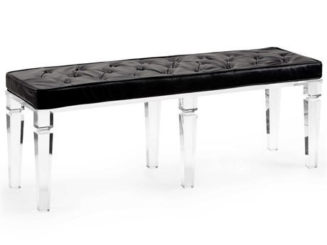 Wildwood Lamps Black / Clear Accent Bench