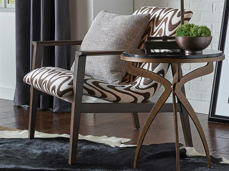 Wildwood Lamps Dark Walnut / Cream Chocolate Accent Chair