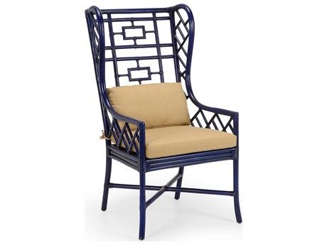 Wildwood Lamps Indigo / Sand Linen Accent Chair WL490373