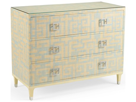 Wildwood Lamps Blue / Natural Brushed Nickel Clear Accent Chest WL490314