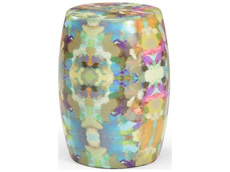Wildwood Lamps Multicolor / Decal Accent Stool