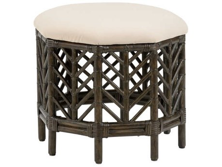 Wildwood Lamps Black Wash / Off White Accent Stool WL490460