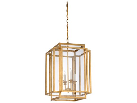 Wildwood Amherst Gold Four-Light 17'' Wide Chandelier WL67178