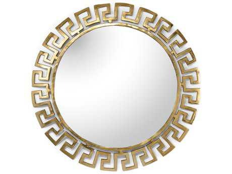 Wildwood Gold Plated Athena Large 40'' Round Wall Mirror WL301145