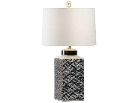 Wildwood Athenaeum Black And White Buffet Lamp WL60614