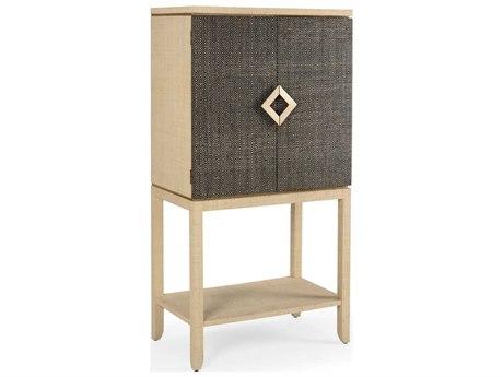 Wildwood Lamps Black / Cream Natural Bar Cabinet WL490149