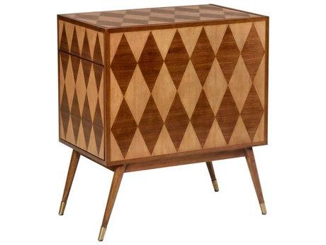 Wildwood Lamps Walnut / Maple Veneer Bar Cabinet WL490481