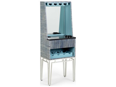 Wildwood Lamps Multi Blue / Black Marble Veneer Bar Cabinet WL490483