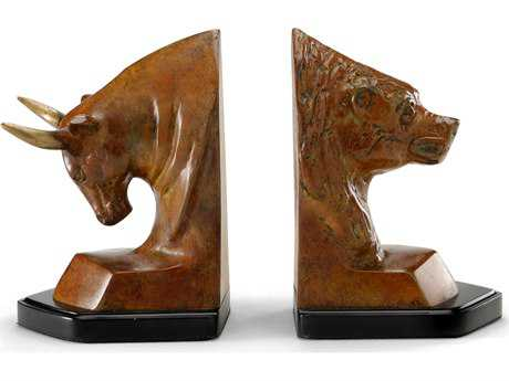 Wildwood Lamps Bull/Bear Oxidized Cast Brass Pair Of Bookends WL291195