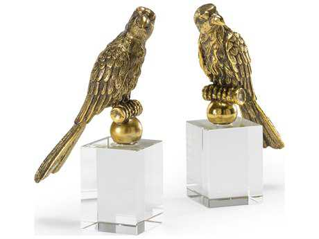 Wildwood Lamps Bird Cast Composite Crystal Mountings Pair Of Bookends WL300592