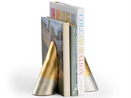 Wildwood Lamps Antique Gold Leaf / Silver Bookend WL301473