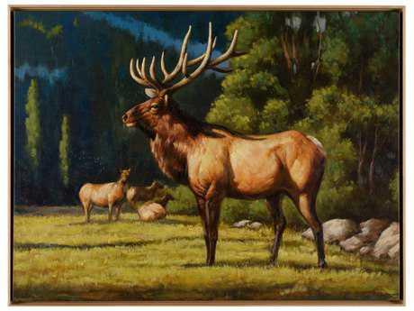 Wildwood Lamps Buck Canvas Wall Art WL395137