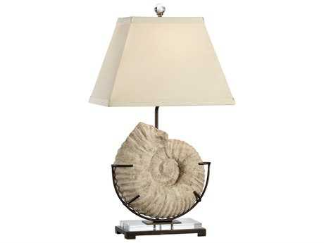 Wildwood Lamps Atlantis Cast Stone Textured Iron Acrylic Mounting Buffet Lamp WL13140