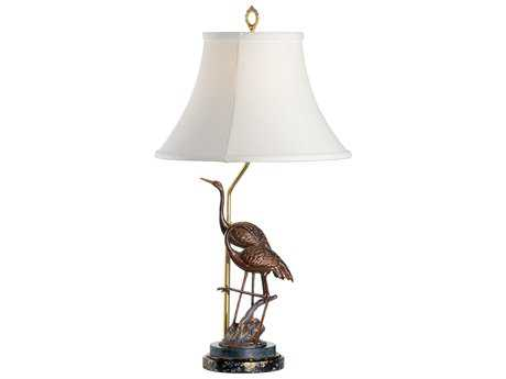 Wildwood Lamps Combined Patinas On Cast Brass Steppin' Cranes Buffet Lamp WL2813