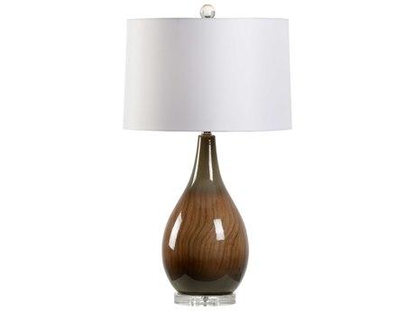 Wildwood Lamps Brown Glaze / Hand Painted 1-light Buffet Lamp