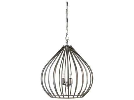 Wildwood Camille Black Iron Three-Light 24'' Wide Pendant Light WL67067