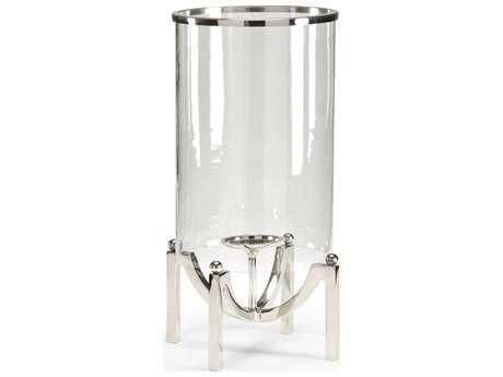 Wildwood Lamps Quad Post Hurricane Polished Nickel Glass Cylinder Candle Holder WL300645