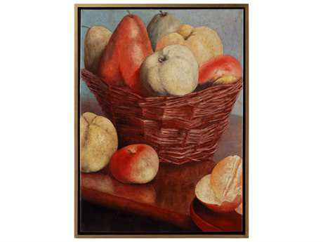 Wildwood Lamps Fruit Basket Framed Acrylic On Canvas Artist Hand Painting Wall Art WL395081