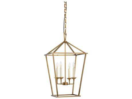 Wildwood Carlton Antique Brass Four-Light 17'' Wide Pendant Light WL67060