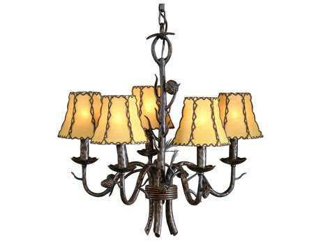 Wildwood Lamps Lone Pines In Iron Five-Light Chandelier WL21175