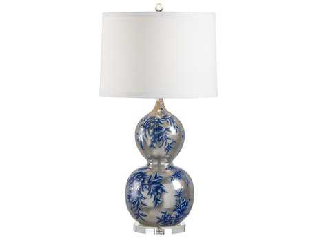 Wildwood Lamps Antiqued White Gold Chu Hua Lamp WL60386