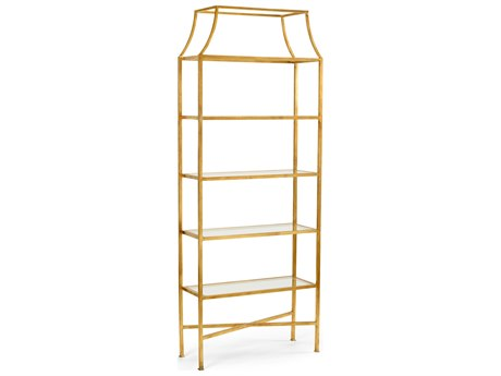 Wildwood Lamps Clancy Iron With Antique Gold Etagere WL490062