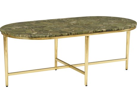 Wildwood Lamps Natural Multi Green 48'' Wide Oval Coffee Table WL490429