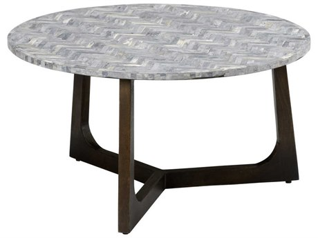 Wildwood Lamps Grey 30'' Wide Round Coffee Table