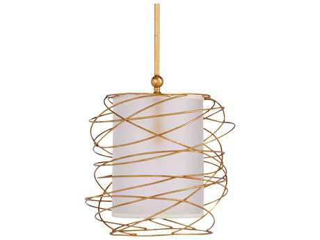 Wildwood Cosmo Gold Leaf Finish 18'' Wide Pendant Light WL67118