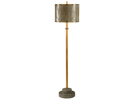 Wildwood Lamps Currituck Antique Brass And Stone And Weathered Floor Lamp WL21753