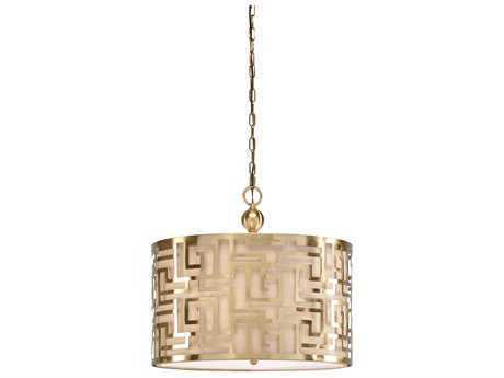 Wildwood Daphne Antique Brass Three-Light 20'' Wide Pendant Light WL67045