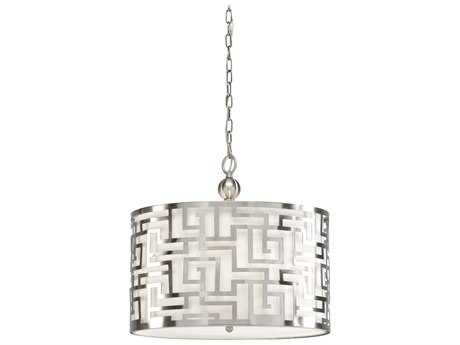 Wildwood Daphne Brushed Nickel Three-Light 20'' Wide Pendant Light WL67046