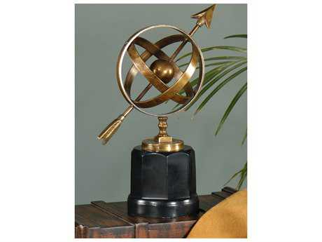 Wildwood Lamps Armillary Antique Patina On Cast Brass With Marble Decorative Accent WL291395