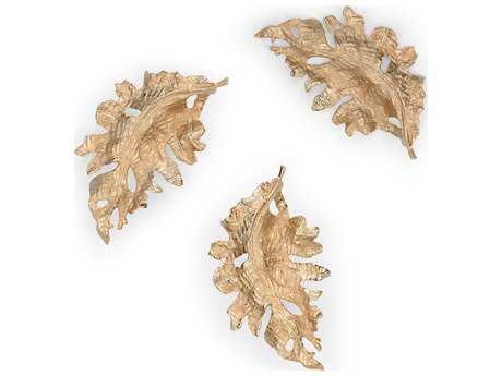 Wildwood Lamps Fallen Leaves Cast Aluminum Champagne Decorative Accent (Set Of Three) WL300762