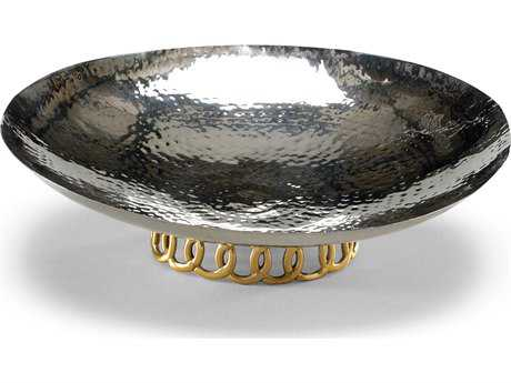 Wildwood Lamps Celtic Rings Large Stainless Steel Brass Stand Bowl Decorative Bowl WL294324