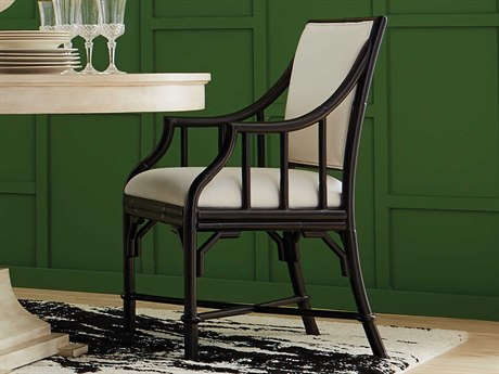 Wildwood Lamps Black / Off White Arm Dining Chair